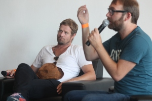 Arno Carstens (left) and Jon Savage at the Breathe Sunshine African Music Conference. Pic by Yazeed Kamaldien